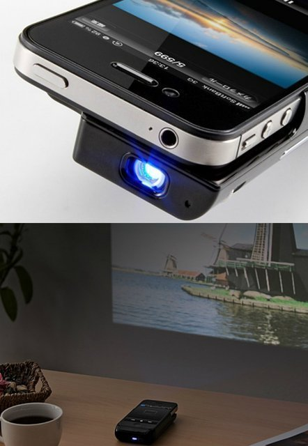iPhone projector… How cool!