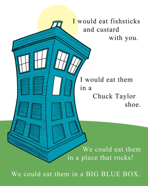 Doctor Who, Dr Seuss style!
