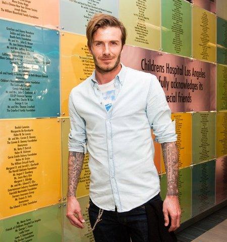David Beckham visits LA Childrens Hospital
