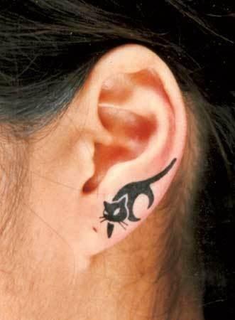 cat ear tattoo