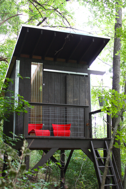 treehouse invisible barn door