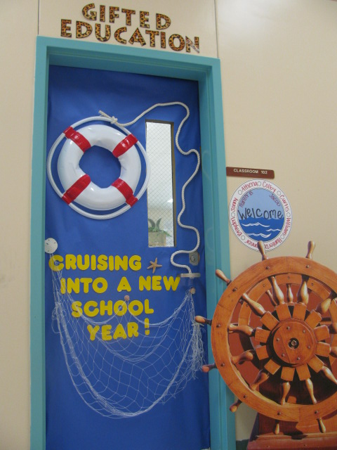 Classroom door decoration we know how to do it for Anchor door decoration