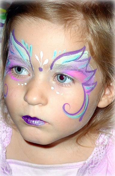 Butterfly Fairy Face PaintSimple Butterfly Face Paint