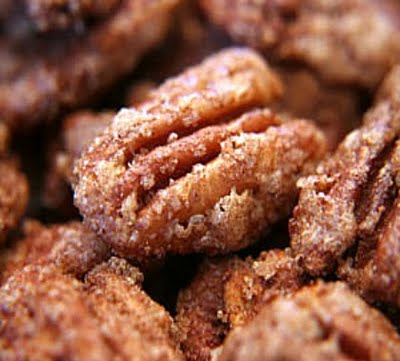 Holidays! ~Cinnamon Sugared Pecans…this will be a great gift in a mason jar &a