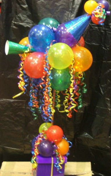 how to make a balloon tree centerpiece