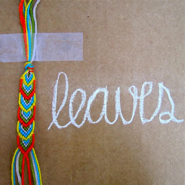 DIY: leafy friendship bracelet.