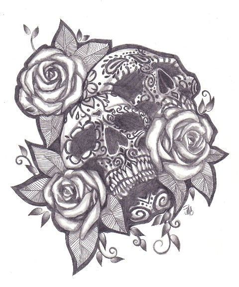 Day of the Dead Sugar Skull Drawings