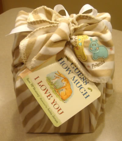 Gift Wrap and a Card for Baby That Won't Get Thrown Away