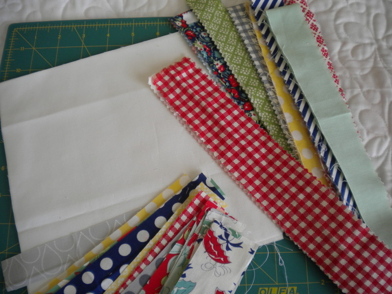 Various Scrap Fabric Pieces