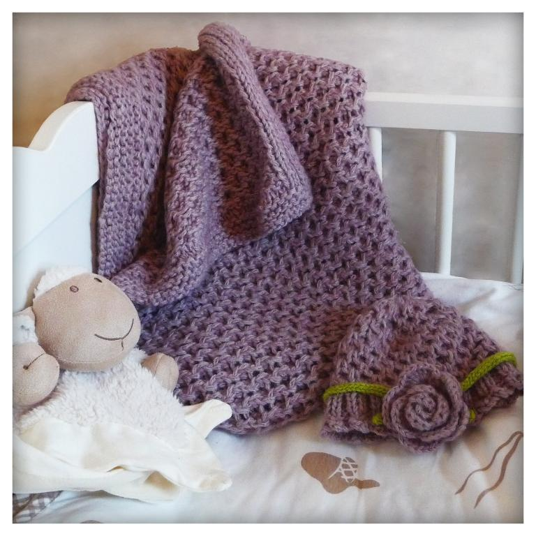 Knit baby blanket - We Know How To Do It