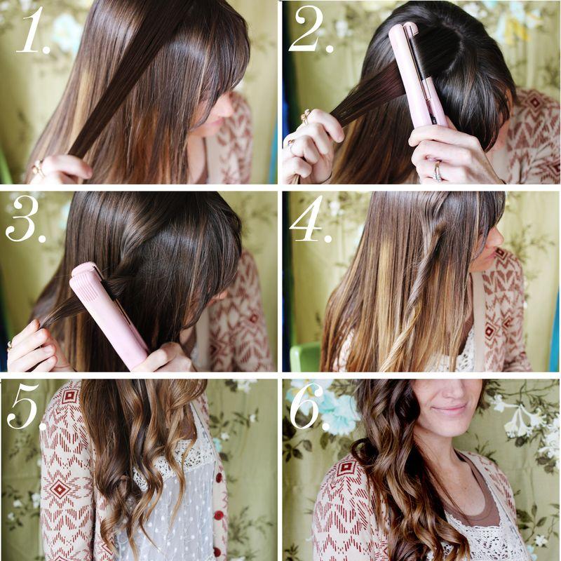 Как выпрямителем сделать кудри на длинные волосы видео