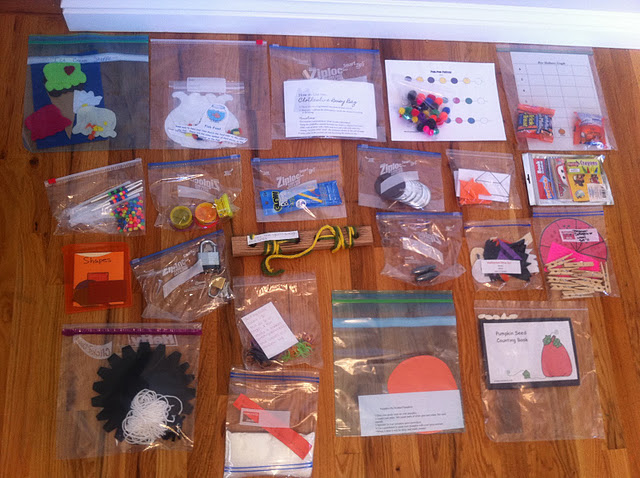 Create 10 different craft bags to pull out when you need a few minutes of uninte