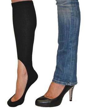 Keysocks for winter heels and flats! Awesome idea!