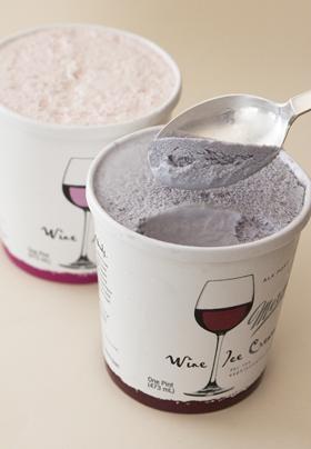 Wine ice cream. 5% alcohol. This will revolutionize girls' nights.