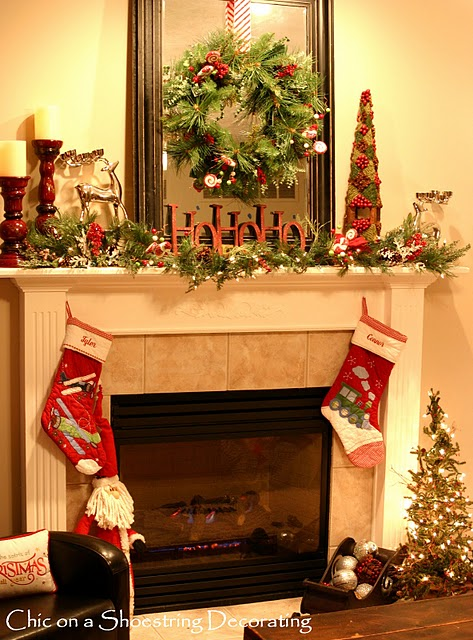 Thinking ahead…we actually have a fireplace to decorate for Christmas this yea