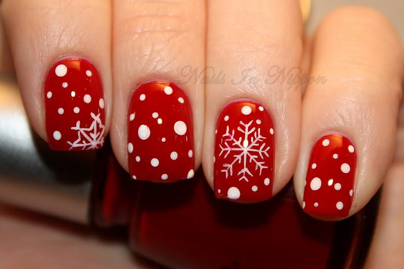 Шеллак новогодний дизайн ногтей