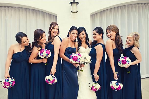 Wedding Bouquets Navy Blue Dresses 18