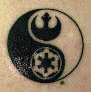 Ying Yang Star Wars tattoo