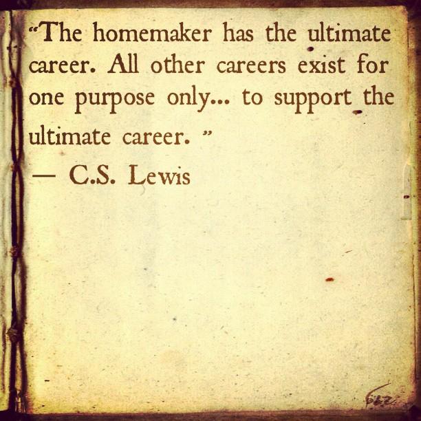 homemaker = ultimate career