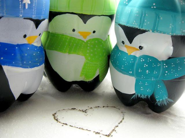 Пингвин из пластиковых бутылок своими руками