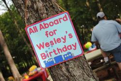 Birthday Train party – Train