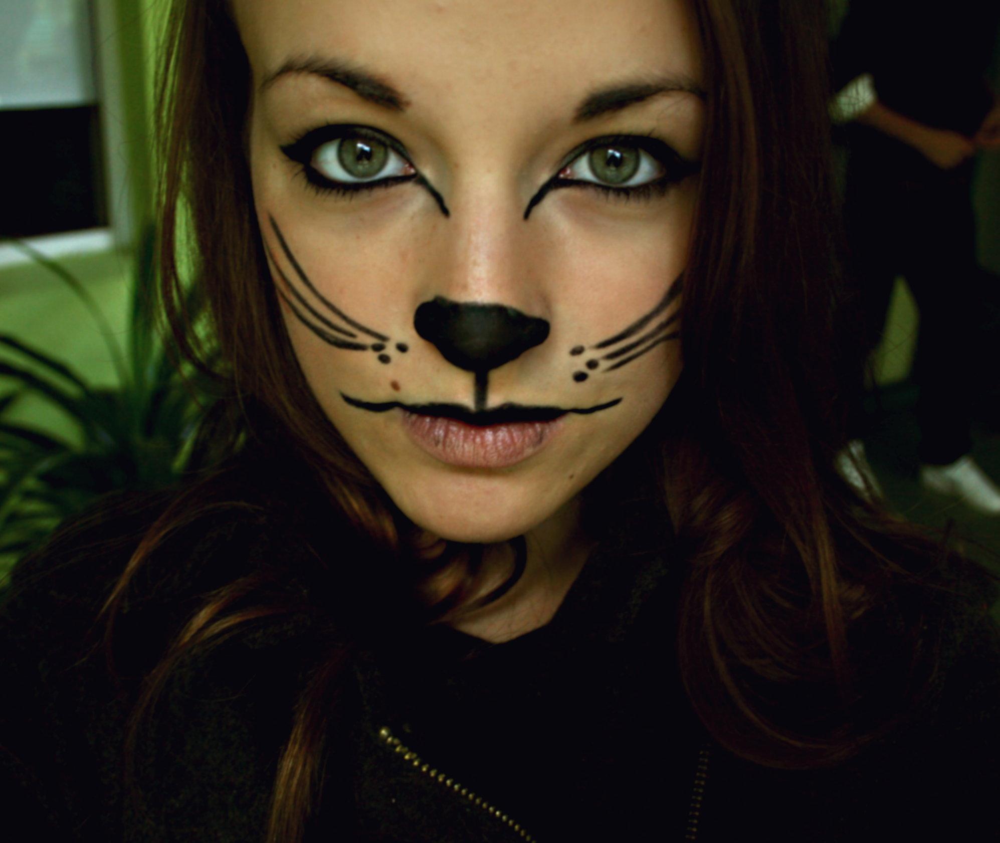 Макияж на хэллоуин для девушек фото кошка
