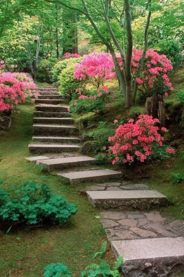 Stone pathway we know how to do it for Tranquil garden designs