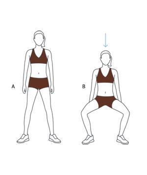 Illustration of wide-stance squat