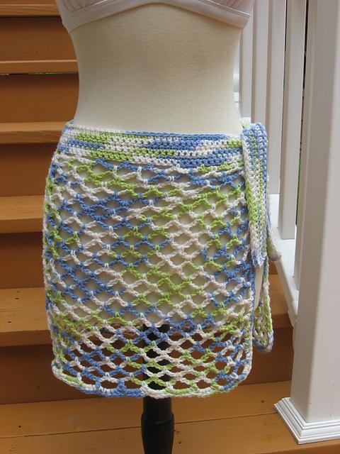 Ravelry: Caribbean Breeze Swimsuit Wrap pattern by Deborah Devlin