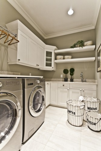 contemporary laundry room by Marcson Homes Ltd.  (My laundry room would be sligh