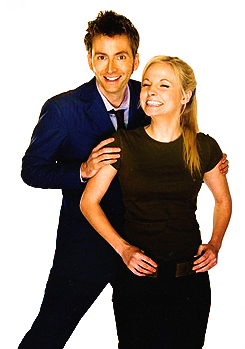The Doctor and the Doctor's daughter. David Tennant (10th Doctor) married Ge