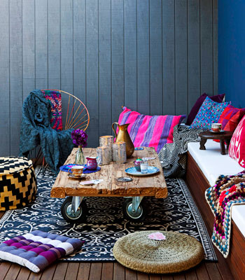Real Living July 2012: Outdoor Winter Rooms – Gypsy Tribal moroccan. (photograph
