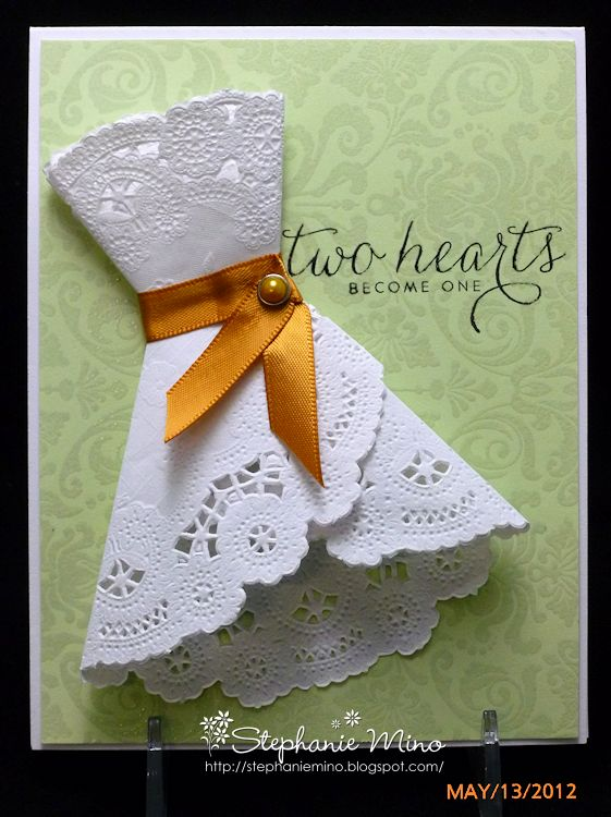 Bridal shower invite made with a doily. What a great idea!  We Know