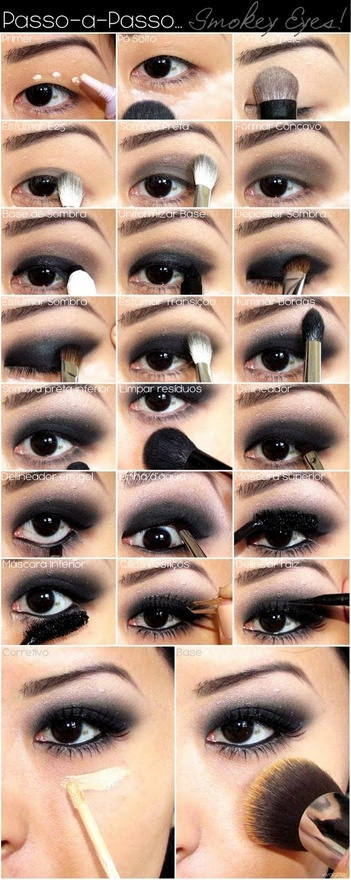 Eye makeup step by step