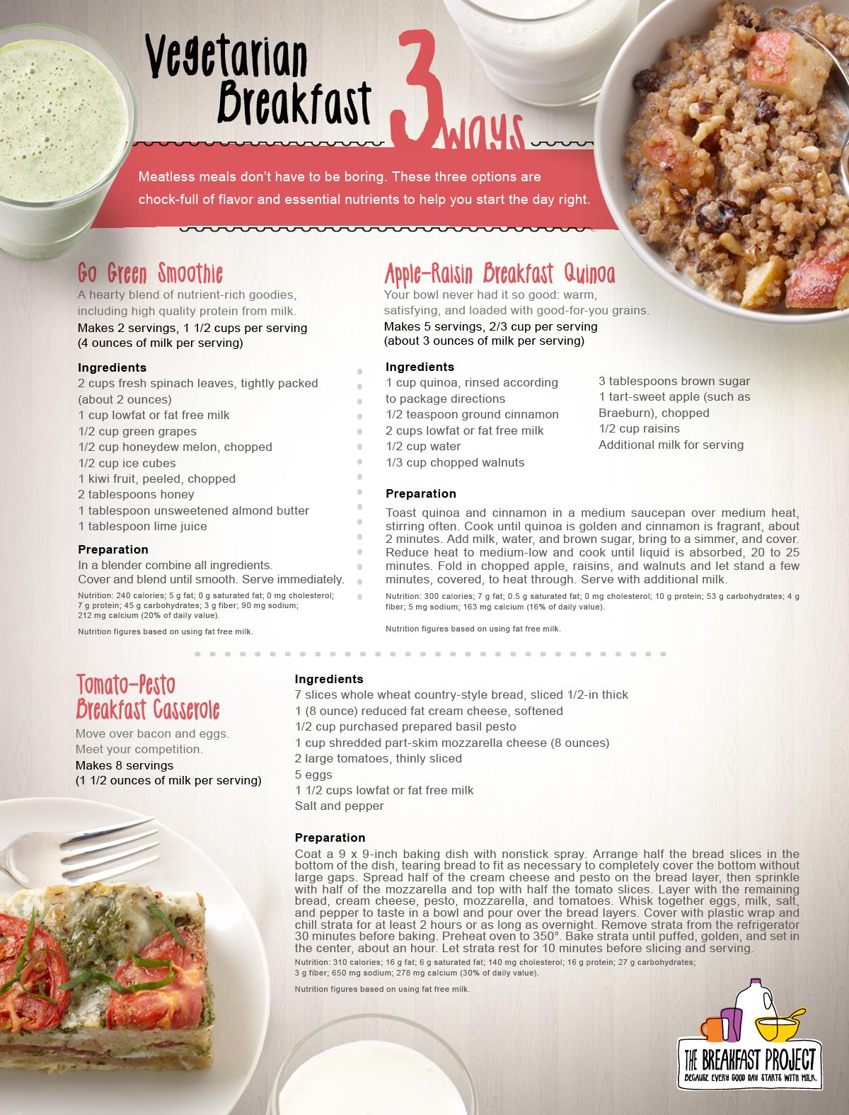 It's Vegetarian Month. We've got 3 vegified breakfast recipes to cel