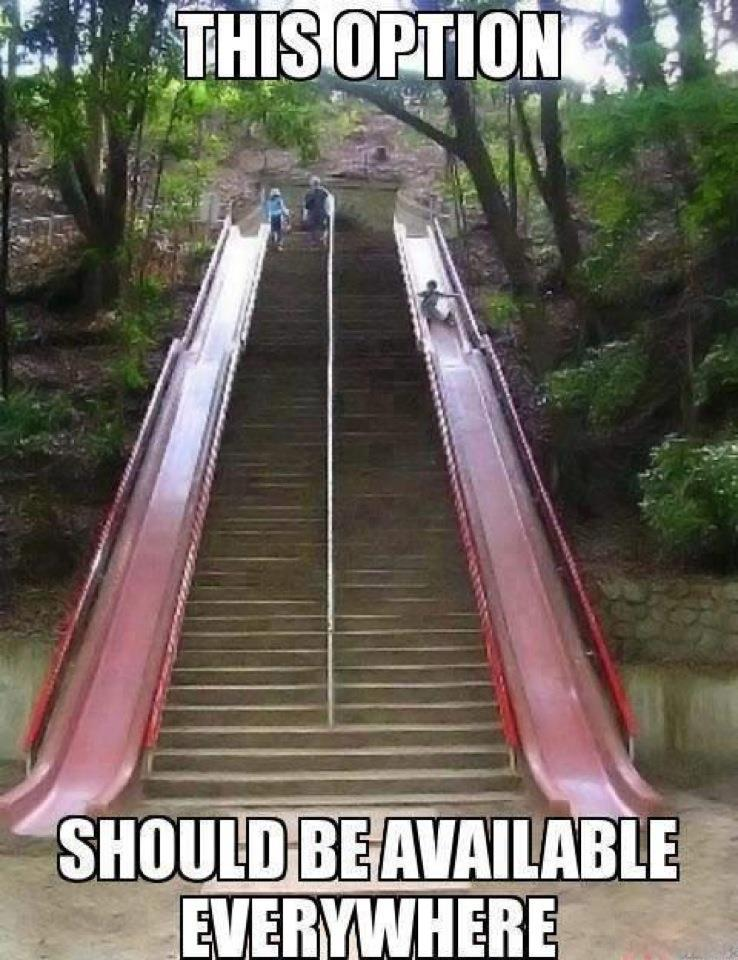 always would take the slide