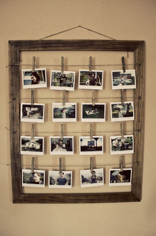Here is a simple yet stylish photo frame that can accomodate quite many photos a