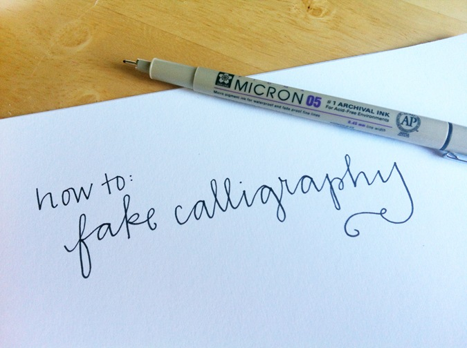 How to fake calligraphy we know do it