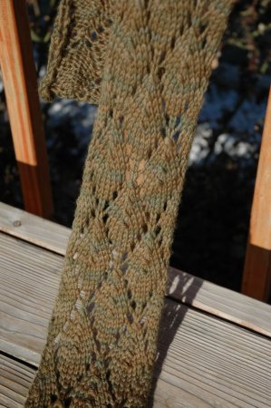 Fast and Easy Lace Scarf DIY by Rachel via jimmybeanswool: Only 15 repeats for t