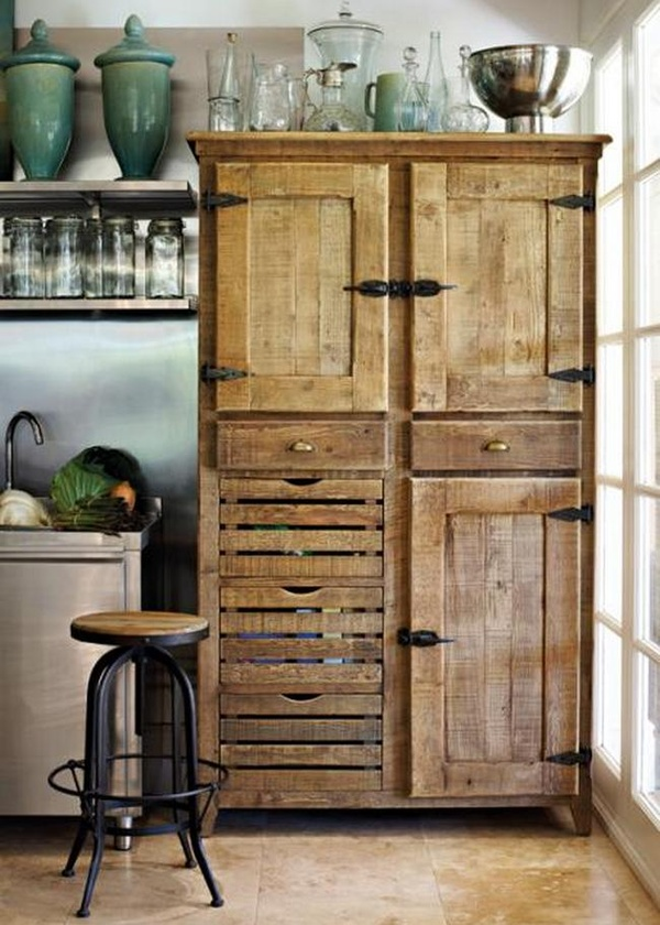 Rustic Kitchen Cupboard