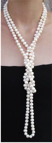 21 ways to wear a pearl necklace
