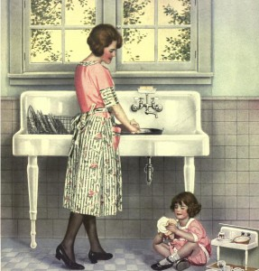 Doing the dishes–1920's