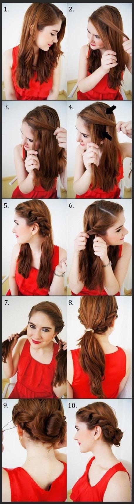 Красивые прически на средние волосы сама себе