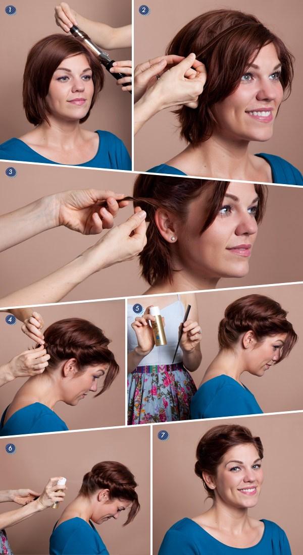 Как сделать легко прическу на короткие волосы