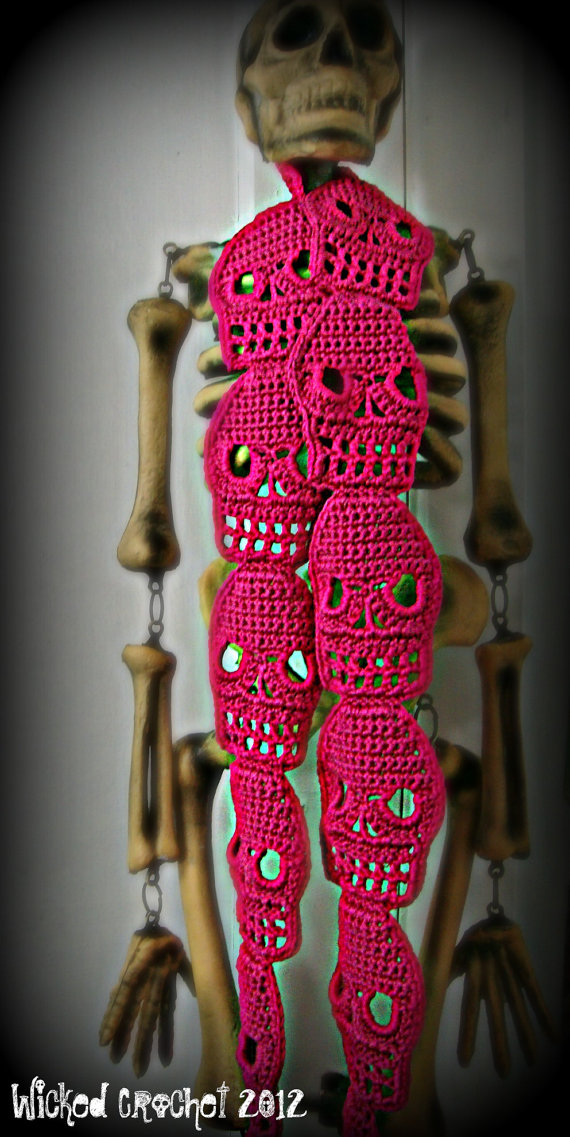 Crochet Skull Scarf I HAVE TO LEARN THIS We Know How