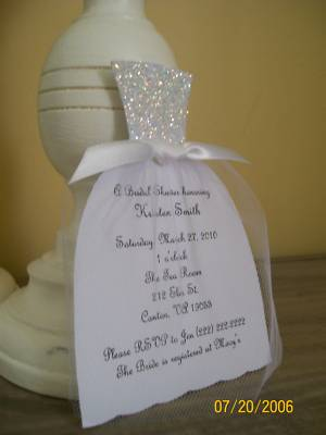 Handmade Wedding Dress Bridal Shower Invitation These Are So Cute