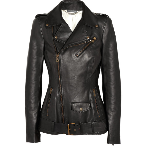 Alexander McQueen Leather biker jacket liked on Polyvore   How Do