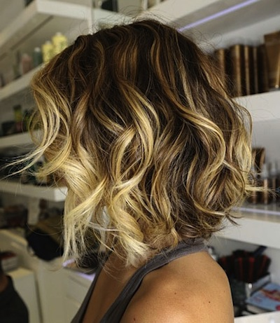 Who says you need long hair to rock the ombre look? Beachy curls, lightened ends