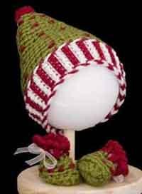 Elfin Hat & Booties