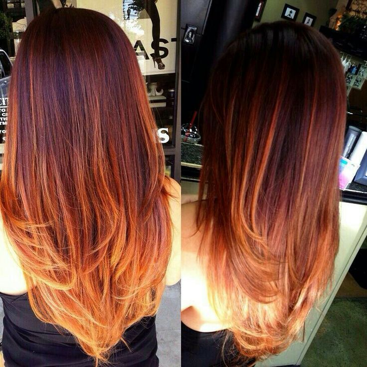 Red ombre hair we know how to do it for Ombre mittellang